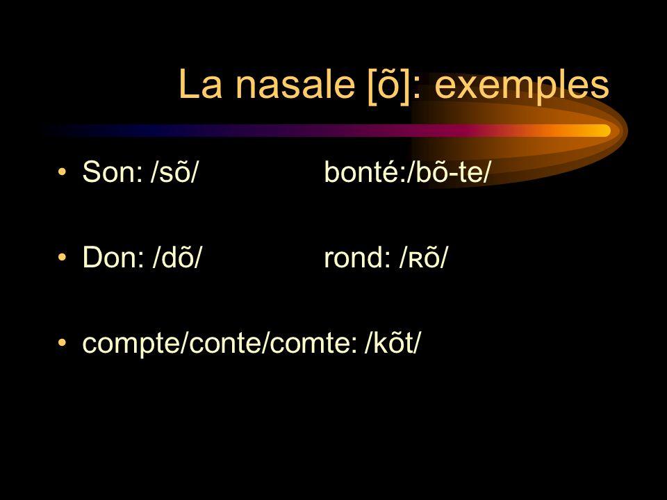 La nasale [õ]: exemples